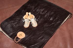 革 ミニチュアブーツ麻