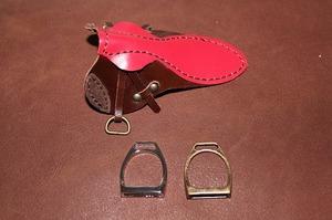 革製品 鞍 鐙 財布