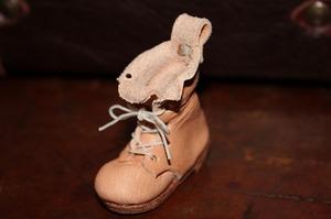 革 レザー ミニチュアブーツ 木型