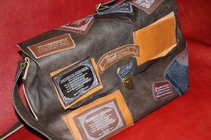 ワッペンバック ショルダーバック 鞄 革製品